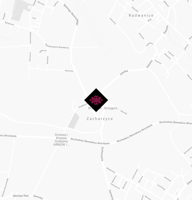 Mapa Apartamenty Kościuszki - Zachrzyce
